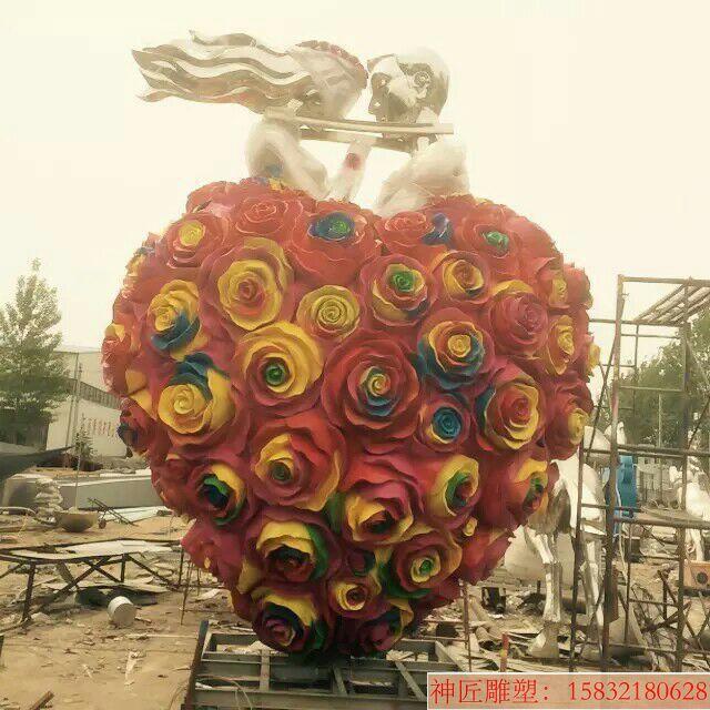 爱情不锈钢雕塑 城市景观不锈钢雕塑
